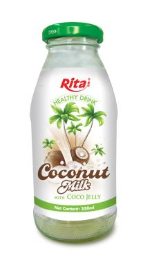 Coconut milk with jelly 250ml Glass bottle