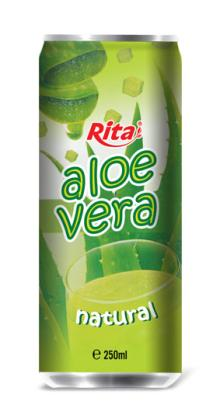 Natural aloe vera 250ml canned