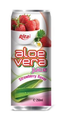 Aloe vera with strawberry juice 250ml