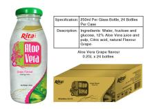 Aloe vera grape juice 250ml glass bottle