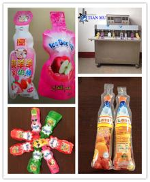 formed or shaped Energy Sport Drinks pouch/tubes filling and sealing packaging machine