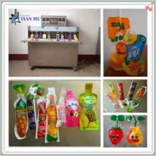 formed or shaped peanut milk and juice premade pouch/tubes filling and sealing packaging machine