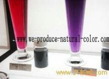 candy using colorant , purple sweet potato color