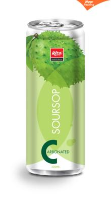 330ml Slim can Carbonated soursop juice