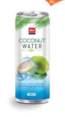 Natural coconut water 330ml slim can