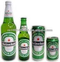 Green Bottles Pack Cans Beer ---Heinekens