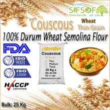 Healthy Mediterranean Couscous. Couscous Thin Grain With 100% Durum Wheat semolina flour. Bulk 25 Kg