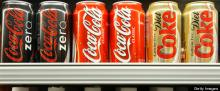 Coca Cola drinks available