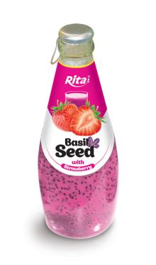 290ml Basil Seed with Strawberry
