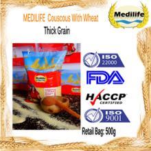 Ultra Premium Quality Couscous Thick Grain 100% Tunisian Healthy Couscous 0,5 Kg