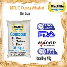 Wholesale Couscous FDA Certification Thin Grain Bulk 25 Kg