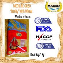 "Orzo ""Barley"". FDA Certification. Barley Medium Grain Retail Bag 1Kg"