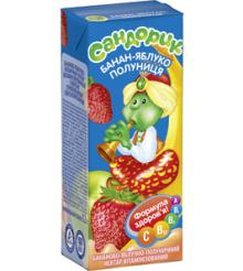 Banana-apple-strawberry nectar Sandorik
