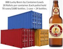 Lucky beer containers