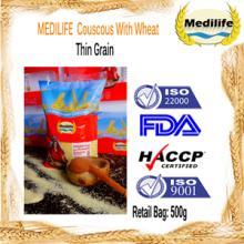 Ultra Premium Quality Couscous Thin Grain 100% Tunisian Healthy Couscous 0,5 Kg