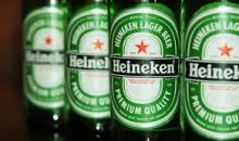 Heinekens Lager Beer Cans and Bottles