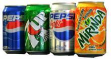 Pepsi, 7up, Diet Pepsi, Mirinda