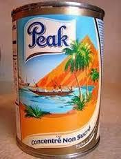 Peak Milk Powder 400g, 900g, 1800g, 2500g.