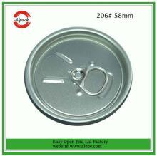 206#58mm aluminium  fruit   juice  can easy open lid company