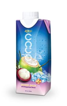 Tetra pack coconut water with mangosteen juice