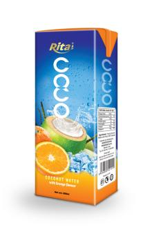 Coconut water with orange flavor 200ml