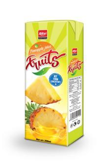 Pineapple juice 200ml tetra pack