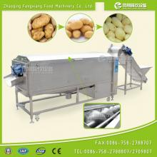 CE approval LXTP-3000 industrial Potato Peeler with Feeding Conveyor