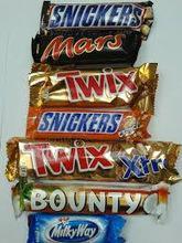 Bounty, Twix, Kitkat Maltesers 25x37gr, Kinder Chocolate, Snickers, Mars