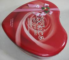 Heart shaped Tin Box for cookie 250*235*73mmH