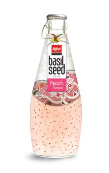 290ml Basil Seed Drink with Peach flavour