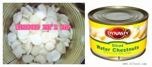 Canned water chestnut in good quality