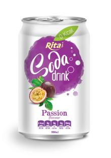 Passion Flavour Soda Drink in Can