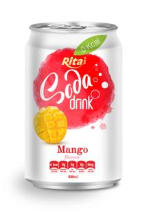Mango Flavour Soda Drink in Can
