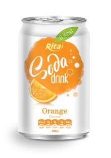 Orange Flavour Soda Drink in Can