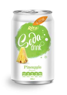 Pineapple Flavour Soda Drink in Can