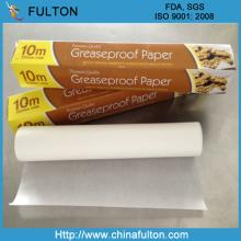 High Quality 28-60gsm White Greaseproof paper Roll KIT7 Food Packaging Paper