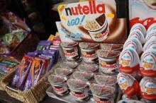 Kinder Bueno, Snickers, Mars Chocolate, Twix, Kitkat, Bounty, Nutella