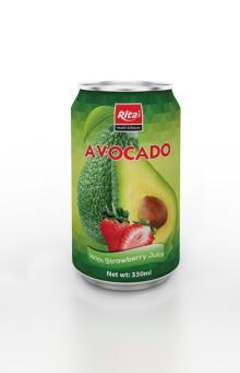 330ml Avocado with Strawberry Juice