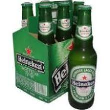 Available Heineken lager beer from Holland
