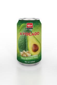 330ml Avocado with Banana Juice