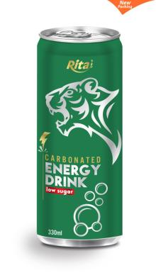 330ml Low sugar Carbonated Energy Drink