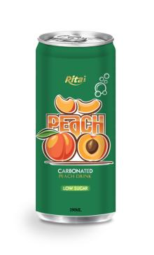 250ml Low sugar Carbonated Peach Drink