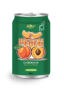 330m Low sugarl Carbonated Peach Drink