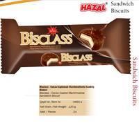 HAZAL Bisclass Cocoa Coated Marshmallow Sandwich Biscuit HAZAL Bisclass Cocoa Coated Marshmallow San