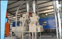 The production line of corn grain processing