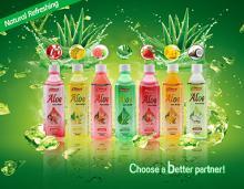 Natural  Aloe  Plant Benefits Pure  Aloe   Vera   Gel   Drink