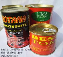 Chinese canned food to West Africa tomato paste 198g