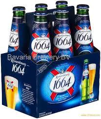 kronenbourg Beer 1664 blanc Can and Bottle For sale