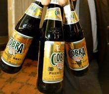 Cobra Beer ready supply