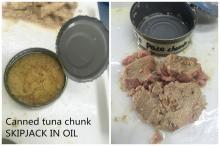 Skipjack tuna in oil -katsuwonus pelamis